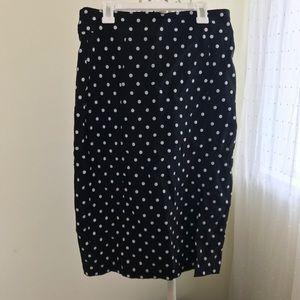 Poka dot high waisted pencil skirt